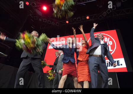 The 2013 Bundestag election, election party of Die Linke - Stock Photo