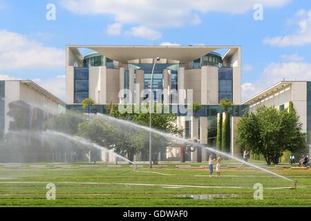 The German chancellery ( Bundeskanzleramt) in Berlin, Germany during summer. - Stock Photo