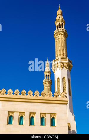 Minarets of Zabeel Mosque in Dubai, UAE - Stock Photo