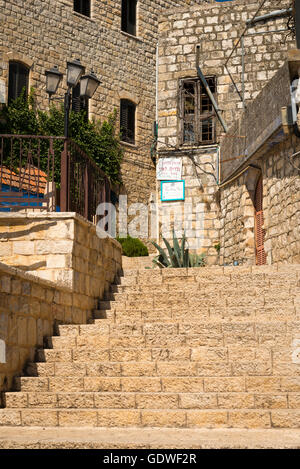 Israel Safed Zefat Tsefat Tsfat highest city in Israel holy site centre of Jewish Mysticism Kabbala since 1600 & - Stock Photo