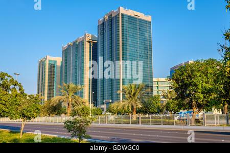 ABU DHABI, UAE - DECEMBER 29: Audi, Mercedes and Sheikh Khalid A - Stock Photo