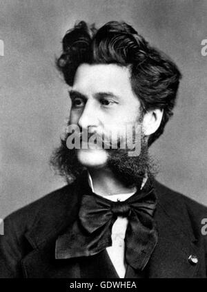 Johann Strauss. Portrait of the Austrian composer. - Stock Photo