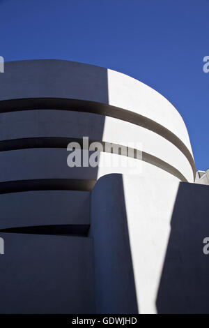 The famous Solomon R. Guggenheim Museum of modern and contemporary art. On February 2, 2016 in New York City - Stock Photo