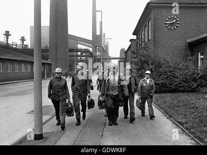 Shift change at Zollverein Coking Plant - Stock Photo