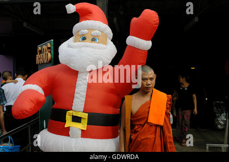 Burmese Santa Claus - Stock Photo