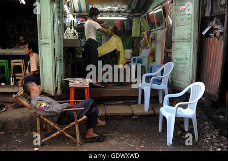 Small barber shop - Stock Photo