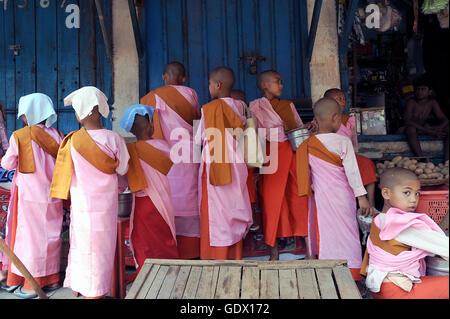 Young Buddhist nuns - Stock Photo