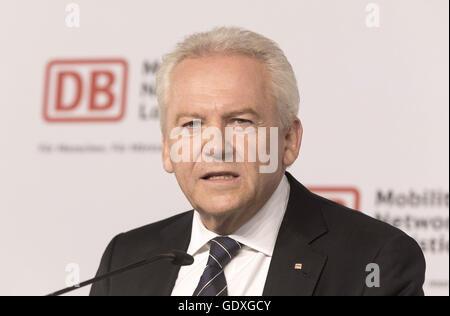 Deutsche Bahn half-year press conference in Berlin, Germany, 2014 - Stock Photo