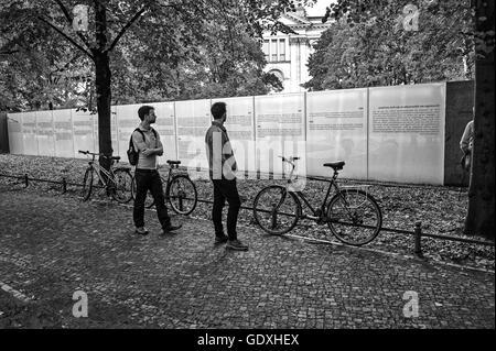 Sinti and Roma memorial - Stock Photo
