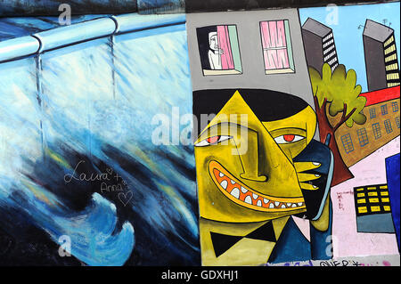Berlin Wall - East Side Gallery - Stock Photo
