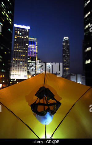 Pro-democracy protests in Hong Kong - Stock Photo