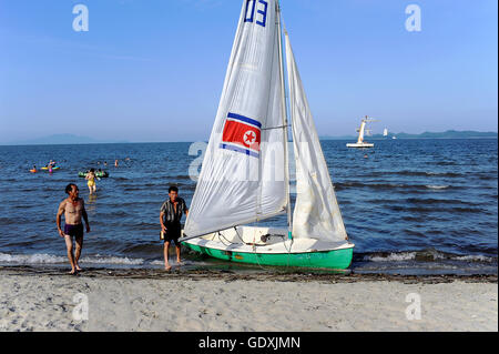 Beachlife in Wonsan - Stock Photo