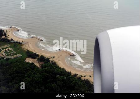 Landing in Bandar Seri Begawan - Stock Photo