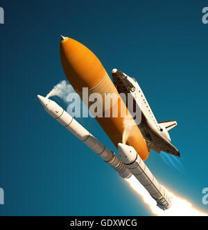 separation of booster rockets and space shuttle external tank - photo #8