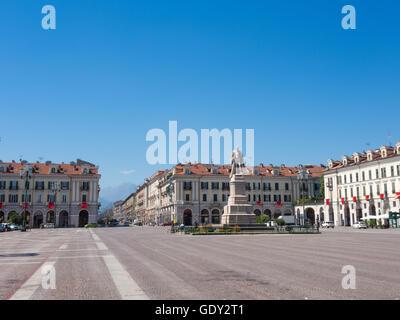 Tancredi Galimberti place of Cuneo, Italy - Stock Photo