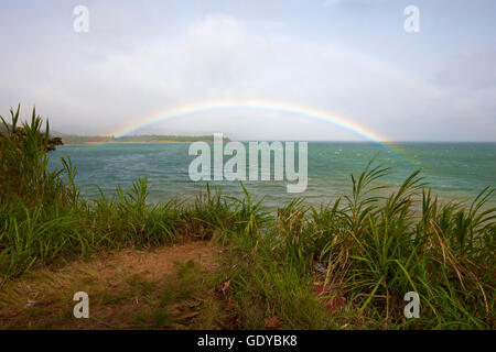Rainbow over Lake Arenal, Alajuela Province, Costa Rica - Stock Photo