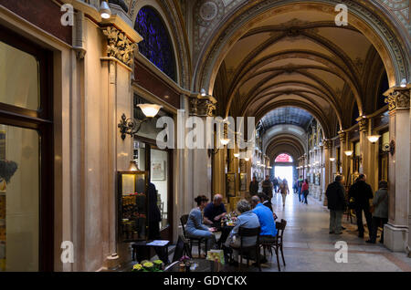 Wien, Vienna: Shopping arcade in the Palais Ferstel between Herrengasse and Freyung, Austria, Wien, 01. - Stock Photo