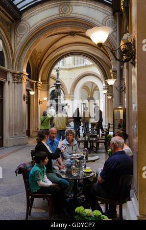 Wien, Vienna: Shopping arcade in the Palais Ferstel between Herrengasse and Freyung, Austria, Wien, 01. - Stock Photo