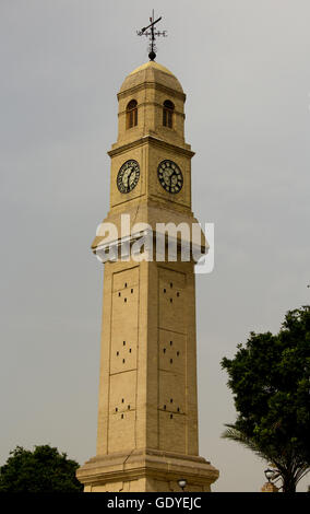 Qishleh hour and located on the banks of the Tigris River in Baghdad ,The oldest clock in Iraq ,Where it was built - Stock Photo