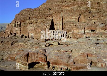 The Royal Tombs, Petra, UNESCOP World Heritage Site, Jordan   usage worldwide - Stock Photo