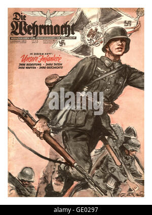Die Wehrmacht was a German military magazine, which was published from 1936 to 1944 to serve German Reich propaganda - Stock Photo