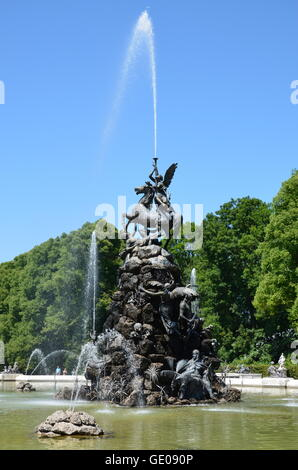 geography / travel, Germany, Bavaria, Herrenchiemsee, castle park, Additional-Rights-Clearance-Info-Not-Available - Stock Photo