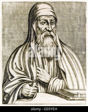 Origen Adamantius (184-254) Greek scholar and theologian born in Alexandria, Egypt who's works included 'Hexapla', - Stock Photo