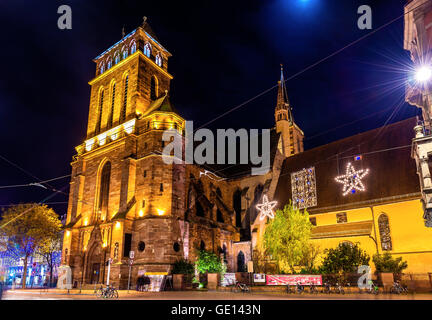 The Church of Old Saint Peter in Strasbourg - France - Stock Photo