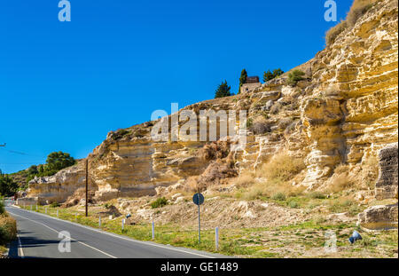 Road to the ancient city of Kourion - Cyprus - Stock Photo