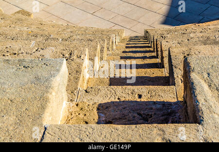 Steps of Odeon Amphitheatre in Paphos - Cyprus - Stock Photo