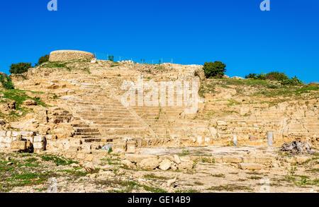 Ancient Hellenistic Amphitheatre in Paphos - Cyprus - Stock Photo