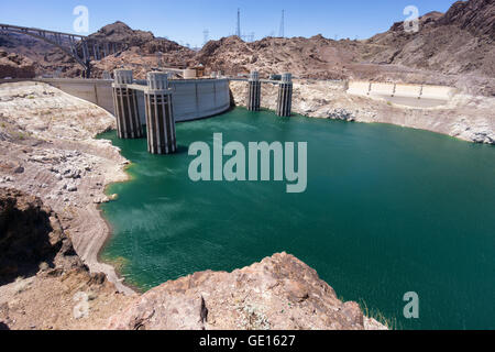 Hoover dam hydroelectric plant - Stock Photo