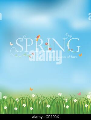 spring season of love background and backdrop, can be use for business shopping card, layout, banner, web design. - Stock Photo