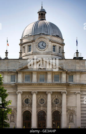 Ireland, Dublin, Merrion Street Upper, Dail Leinster House, Irish government, seat of parliament building - Stock Photo