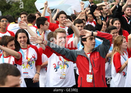 Gdansk, Poland 23rd, July 2016 Youth from diferent countries around the world during the open-air meeting in Gdansk - Stock Photo