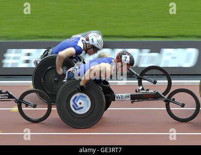 London, UK. 23rd July, 2016. David Weir (GBR, 7). Anniversary Games. London Diamond League. Olympic Stadium. Queen - Stock Photo