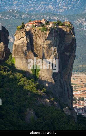 Meteora, Thessaly, Greece.  The Eastern Orthodox Holy Trinity Monastery.  In Greek, Agia Triada or Ayías Triádhos - Stock Photo