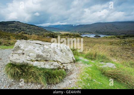 Scenic view looking over the Macgillycuddy's Reeks near Molls Gap South West Ireland. - Stock Photo