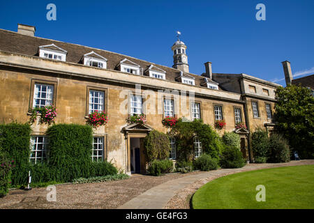 CAMBRIDGE, UK - JULY 18TH 2016: The architecture in the First Court at Christ's College in Cambridge, on 18th July - Stock Photo