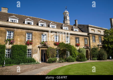CAMBRIDGE, UK - JULY 18TH 2016: The architecture in the First Court in Christ's College in Cambridge, on 18th July - Stock Photo