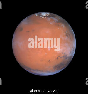 Taking advantage of Mars's closest approach to Earth in eight years, astronomers using NASA's Hubble Space Telescope - Stock Photo