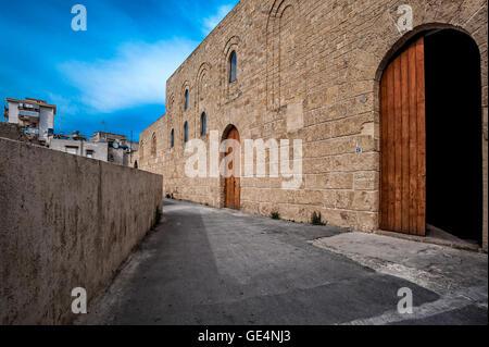 Italy Sicily Palermo Favara Castle or Mare Dolce castle - Stock Photo