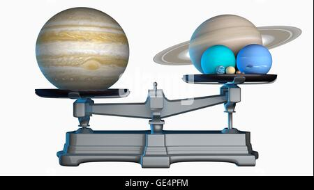 jupiter 39 s mass illustration of the planets of the solar. Black Bedroom Furniture Sets. Home Design Ideas