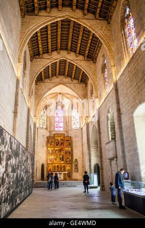 Saint Agata Chapel in Plaça del Rei,Barcelona, Spain. - Stock Photo