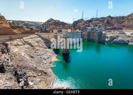 Scenic view of the Hoover Dam in Nevada - Stock Photo