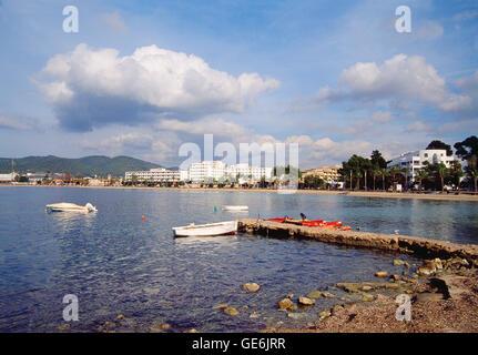 Sant Antoni de Portmany. Ibiza, Balearic Islands, Spain. - Stock Photo