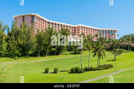 The Fairmont Southampton luxury resort at Southampton, Bermuda - Stock Photo