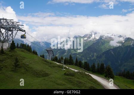 Scenes around Mayrhofen in Austria - Stock Photo