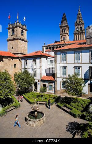 Praza de Fonseca. Santiago de Compostela.Coruña province.Spain. Camino de Santiago.