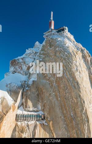 Aiguille du Midi in Chamonix France - Stock Photo